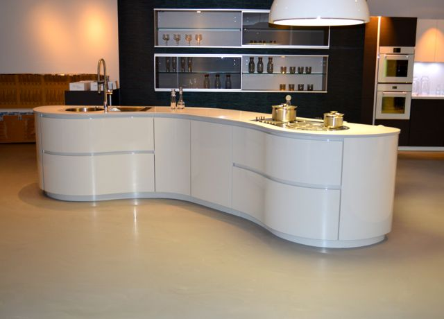 Poured resin floor to kitchen
