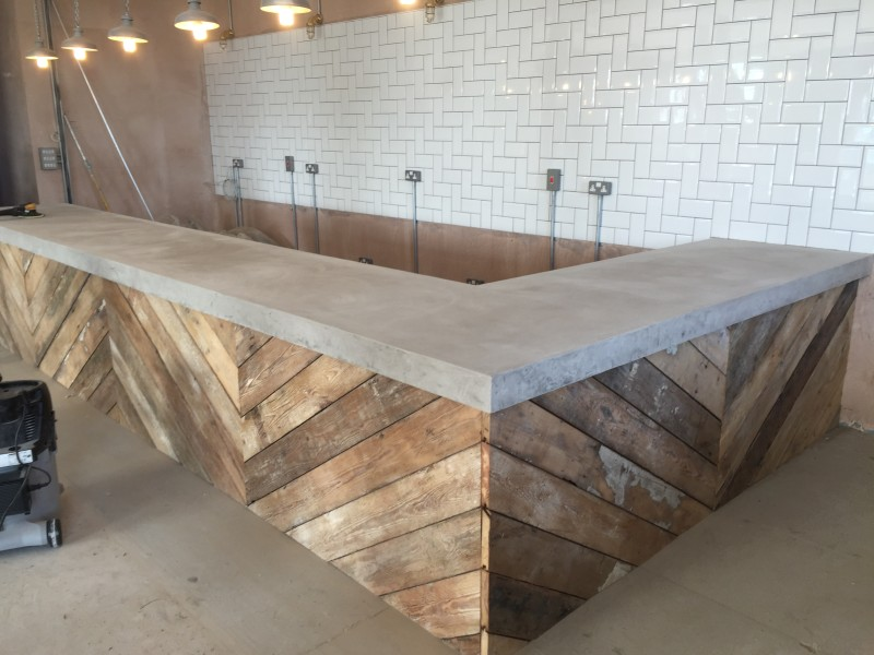 Polished concrete bar top the academy espresso bar floored for Bedroom kandi nashville