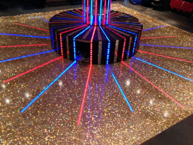 Sparkle Resin Floor with LED light strips