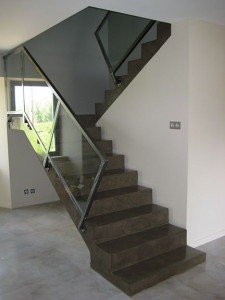 Microscreed to stairs