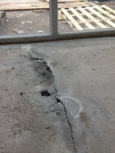 Cracked Concrete Screed