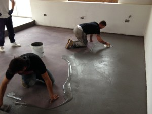 Microscreed being Installed