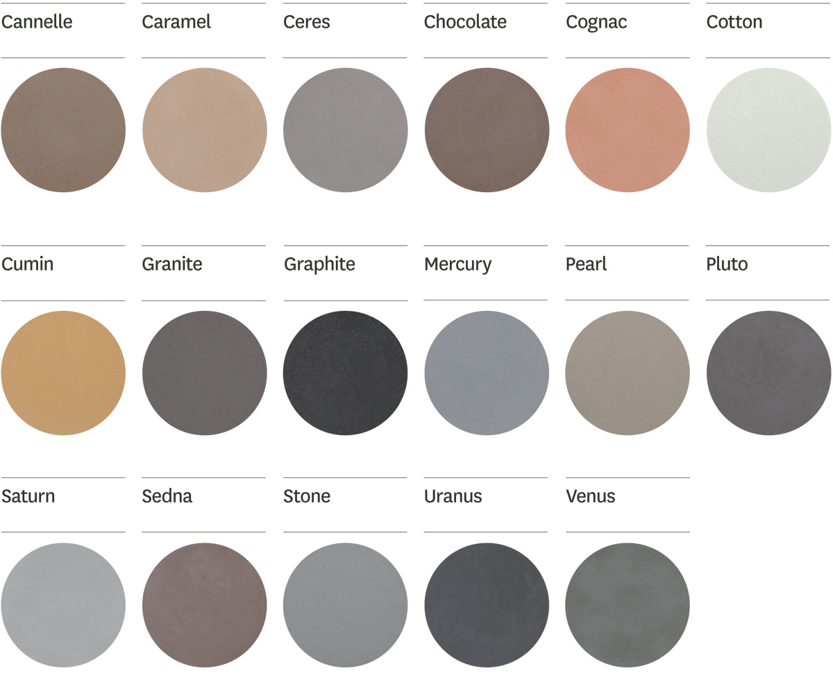 Floored Genius Colour Chart - Solacir Coulis
